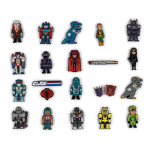 Load image into Gallery viewer, Kidrobot Transformer vs GI Joe Enamel Pin Series Case