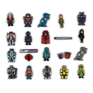 Kidrobot Transformer vs GI Joe Enamel Pin Series Blind Box