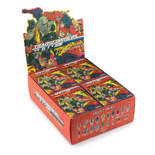 Kidrobot Transformer vs GI Joe Enamel Pin Series Case