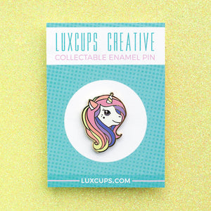 Luxcups Creative Raibow Unicorn Enamel Pin