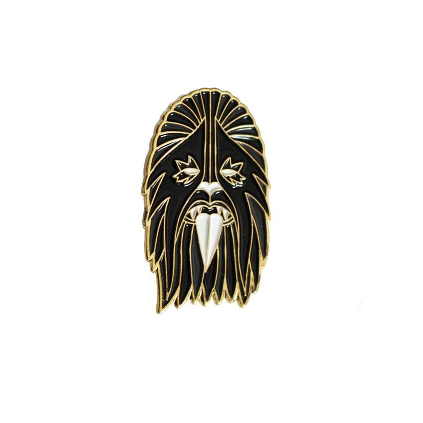 Creamlab Break Toys Heavy Metal Wookie Black and Gold Enamel Pin