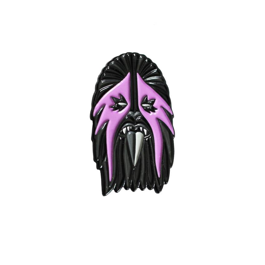 Creamlab Break Toys Heavy Metal Wookie Pink and Black Enamel Pin