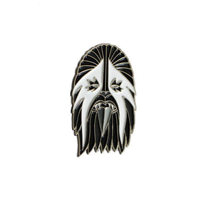 Creamlab Break Toys Heavy Metal Wookie White and Silver Enamel Pin