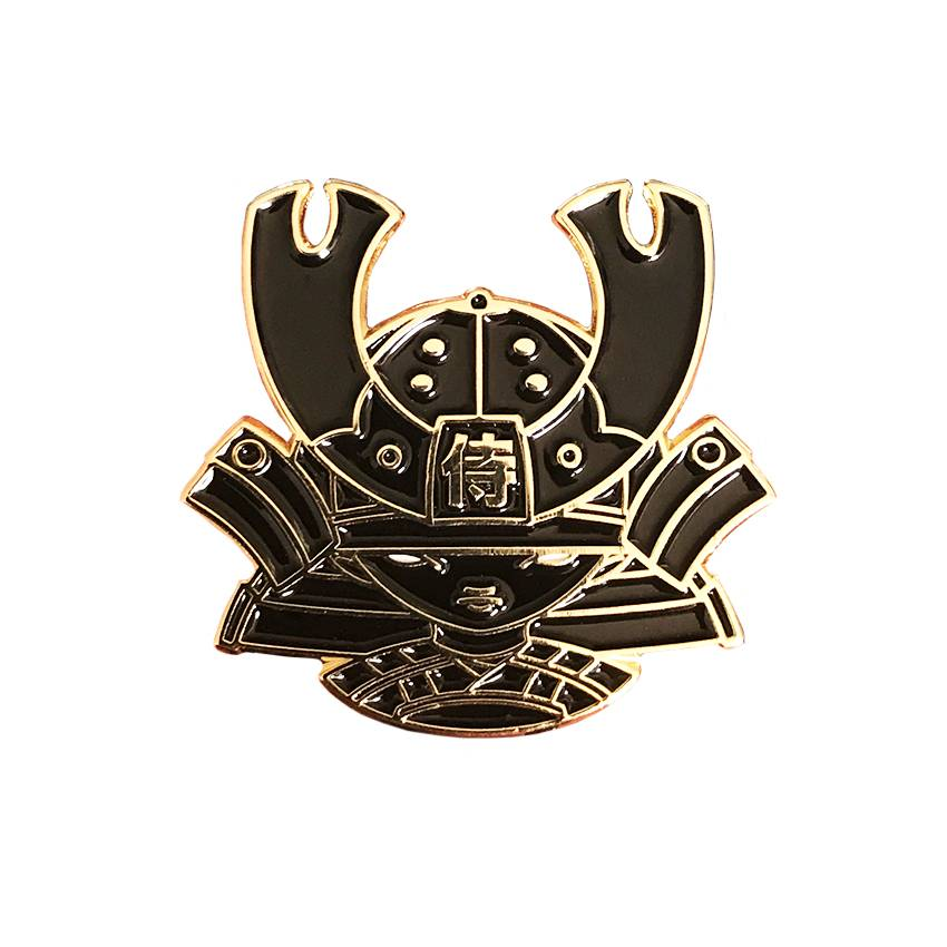 Creamlab 2Petalrose Kid Katana Black and Gold Enamel Pin