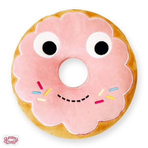 "Kidrobot Yummy World Pink Donut 10"" Plush"
