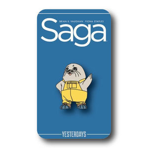 Yesterdays SAGA Ghus Enamel Pin