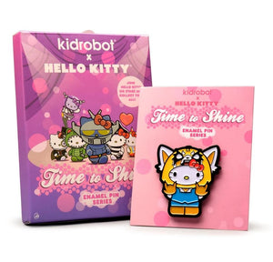 Kidrobot x Sanrio Hello Kitty Time to Shine Enamel Pins Case