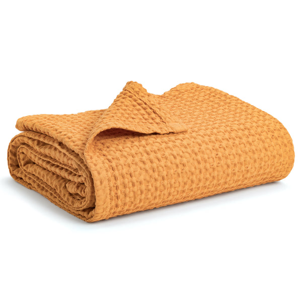 Waffle Baby Blanket - Apricot