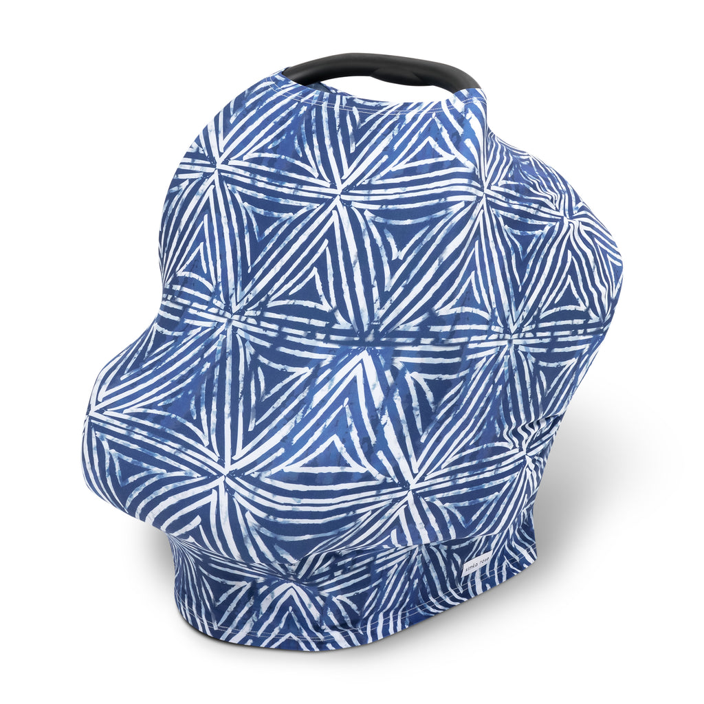 Car Seat Canopy / Nursing Cover - Shibori