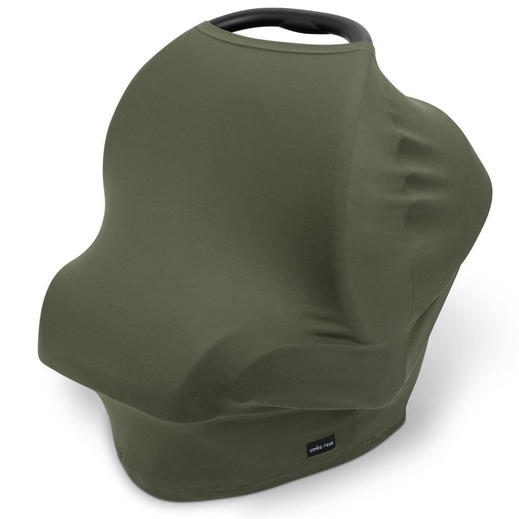 Car Seat Canopy / Nursing Cover - Moss