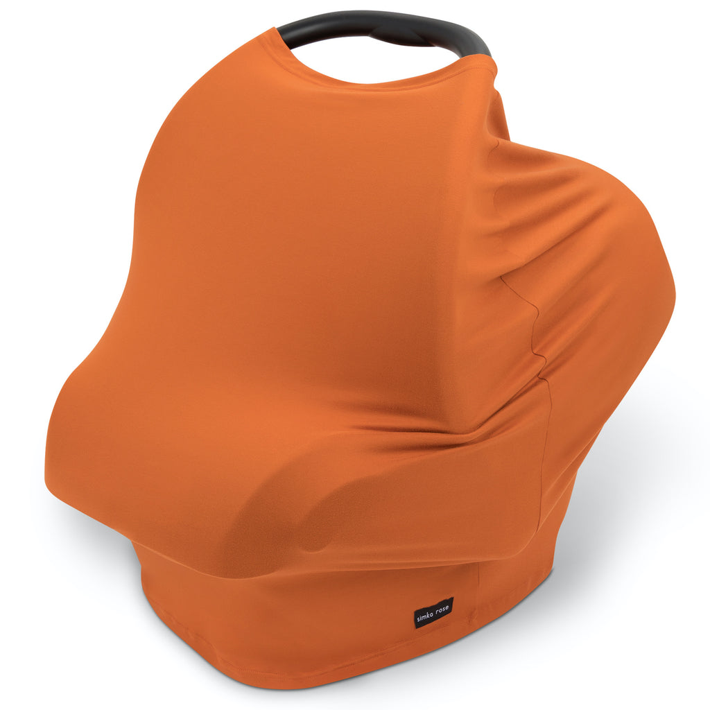 Car Seat Canopy / Nursing Cover - Rust