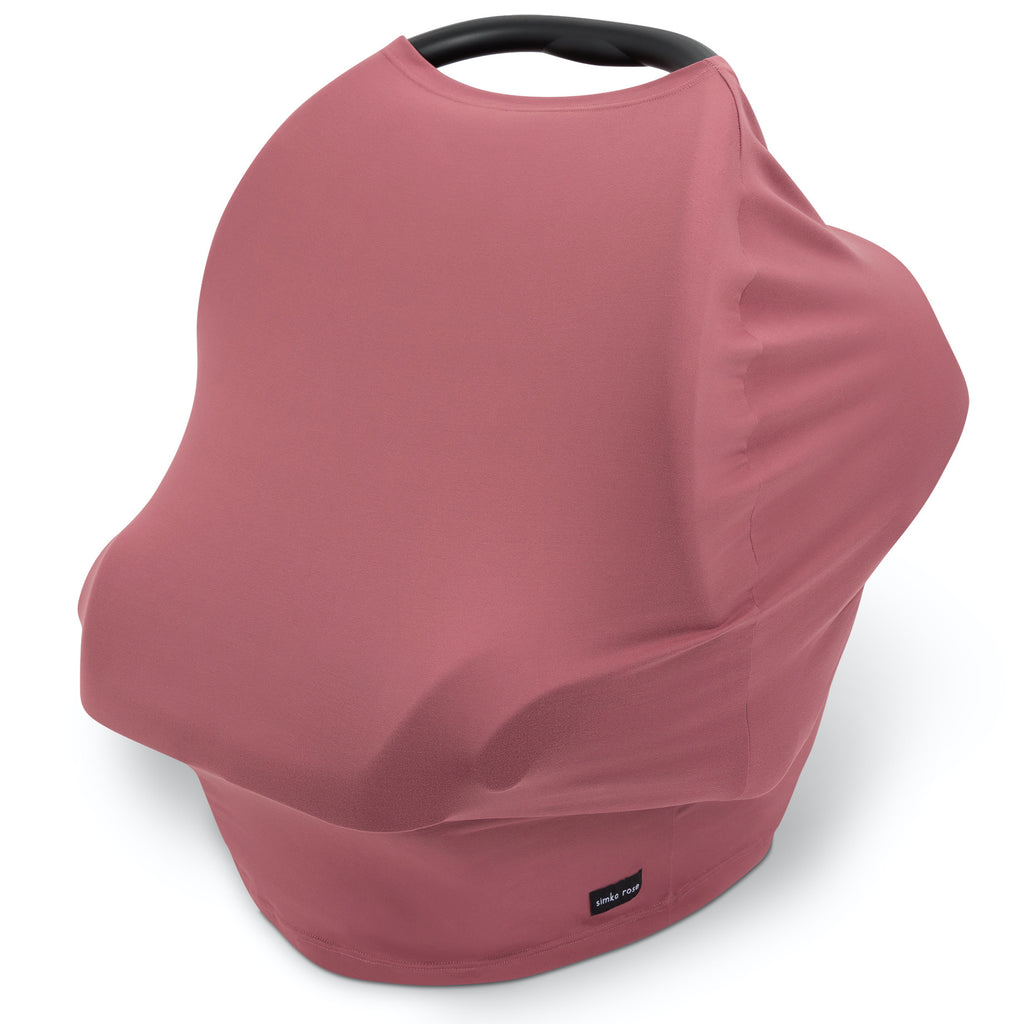 Car Seat Canopy / Nursing Cover - Mauve