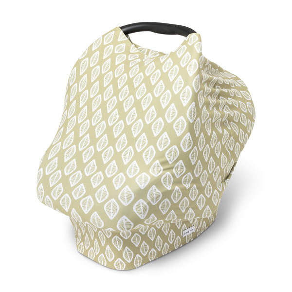 Car Seat Canopy / Nursing Cover - Olive Leaf