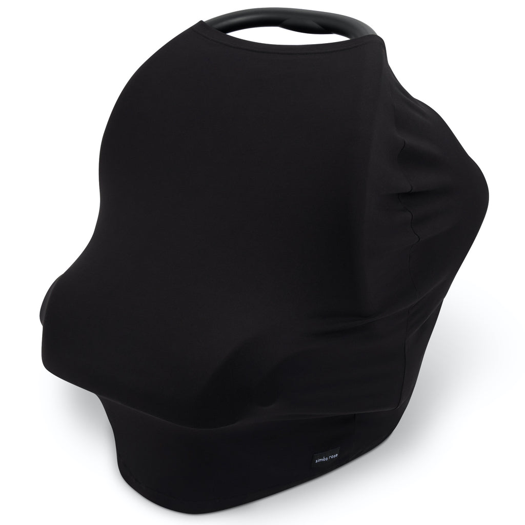 Car Seat Canopy / Nursing Cover - Black