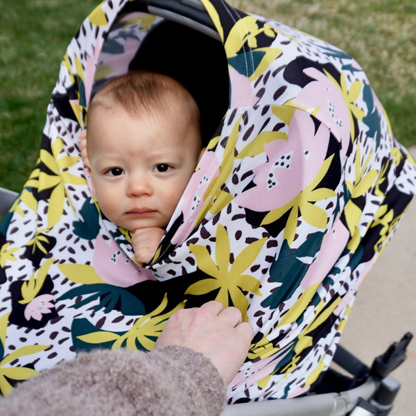 Car Seat Canopy / Nursing Cover - Floral