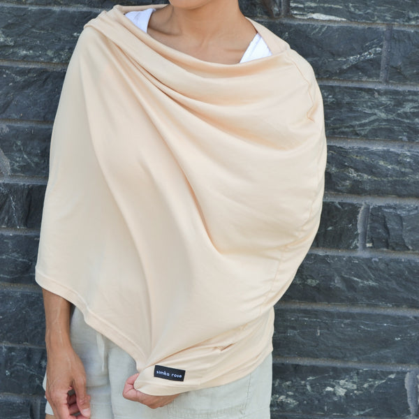 Car Seat Canopy / Nursing Cover - Natural