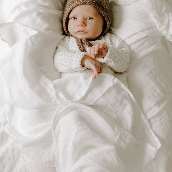 Bamboo Muslin Swaddle Blanket - Natural