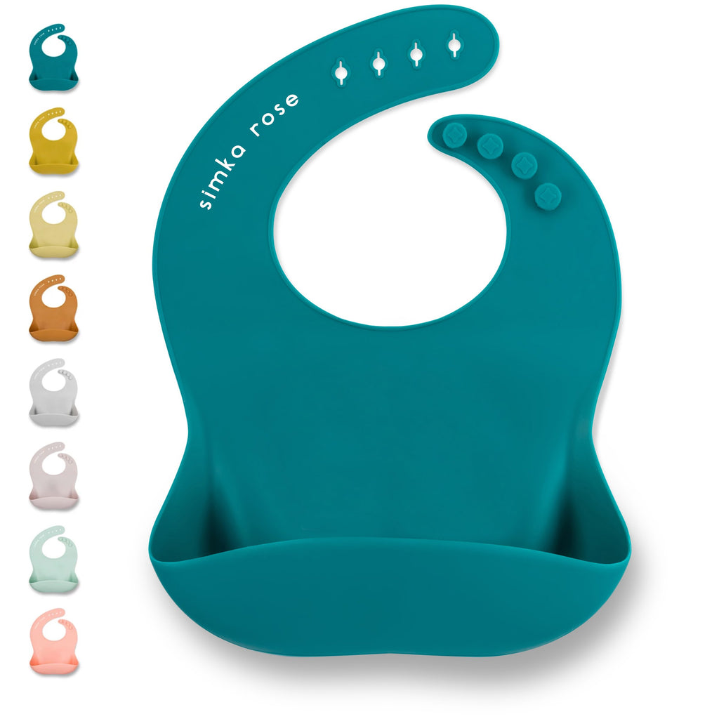 Simka Rose Solid Silicon Bibs