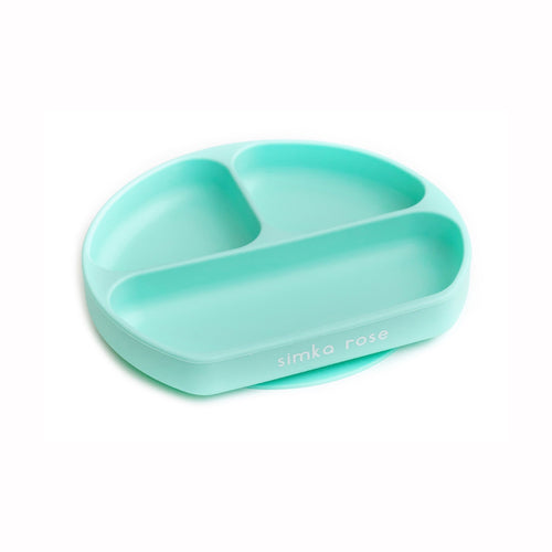 Divided Suction Plate for Toddlers - Mint