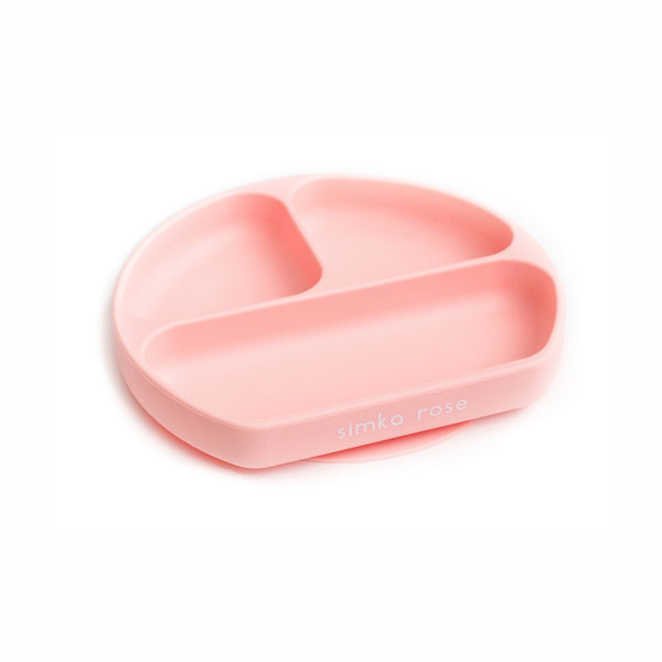 Divided Suction Plate - Peach