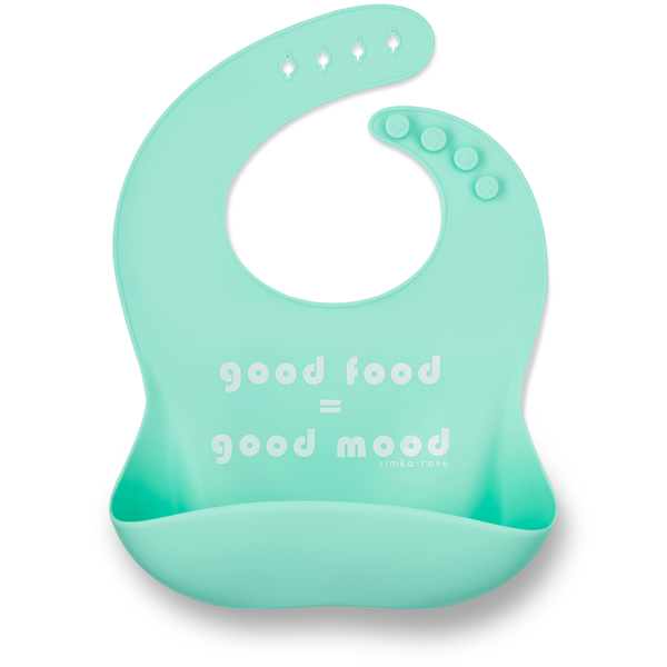 GOOD FOOD = GOOD MOOD Bib - Mint