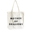 Canvas Zipper Tote Bag - MOTHER OF DRAGONS