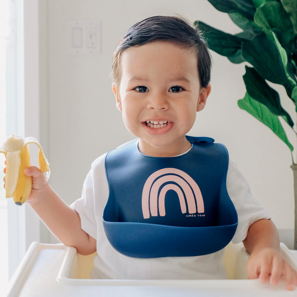Rainbow Bib - Navy