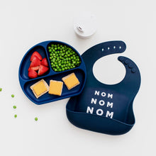 Divided Suction Plate for Toddlers - Navy