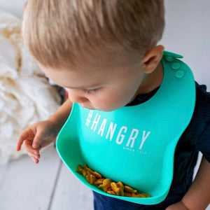 Black + Teal Bib Set