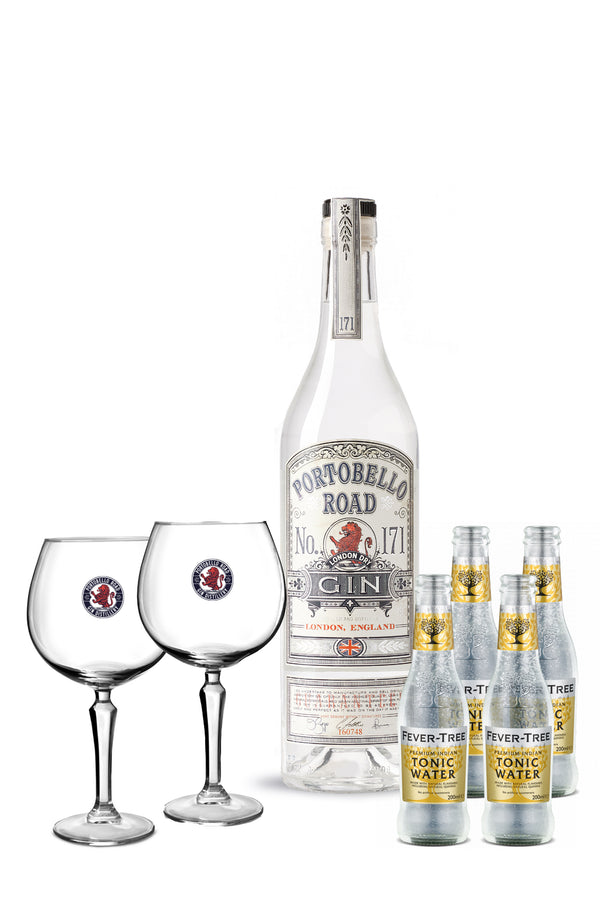 Portobello Road Gin Glass and Tonic Bundle