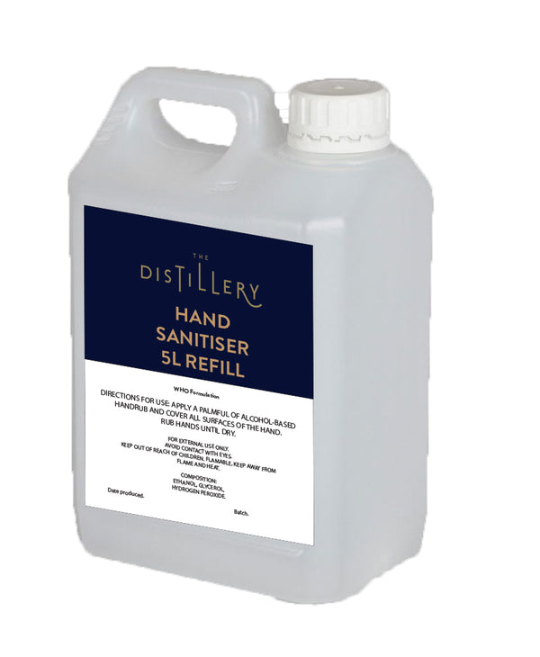 Hand Sanitiser 5L Sanitiser Station or Refill - The Distillery London