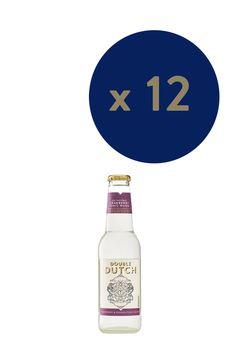 Double Dutch - Cranberry & Ginger Tonic 200ml x12 - The Distillery London