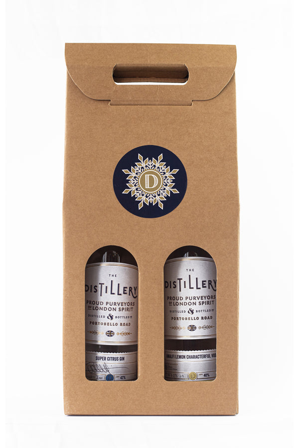 Distillery bottle gift box - double