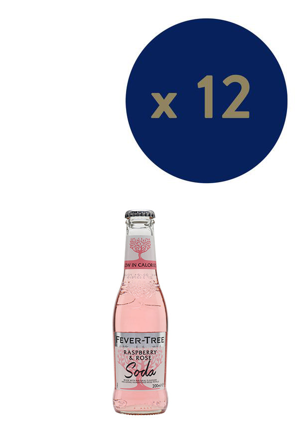 Fever-Tree Raspberry & Rose Soda 200ml x12
