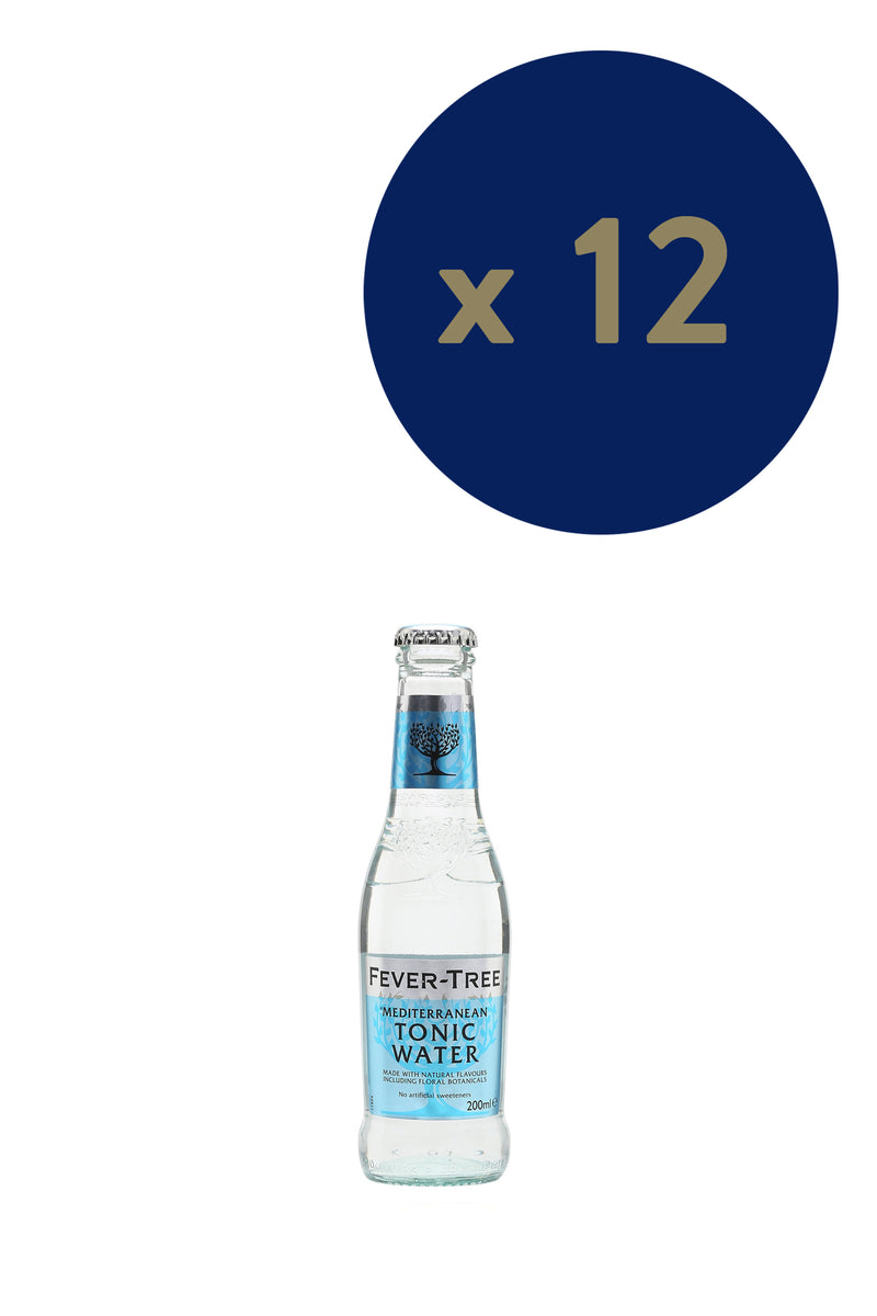 Fever-tree Mediterranean Tonic 200ml x12 - The Distillery London