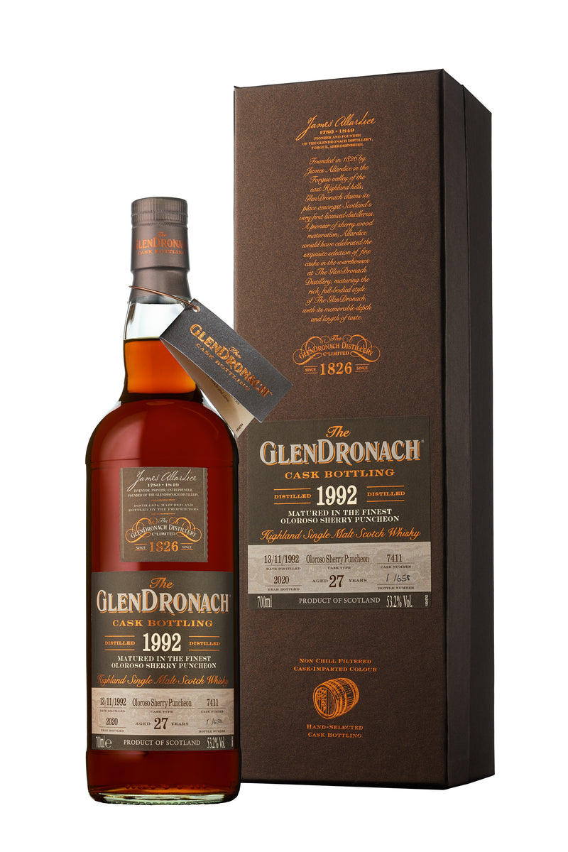 GlenDronach 27 year old 1992 Cask #7411 Batch 18