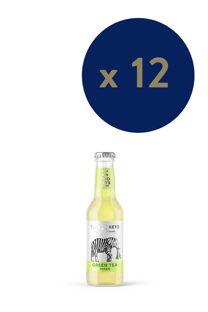 Two Keys Mixers - Green Tea 200ml x12 - The Distillery London
