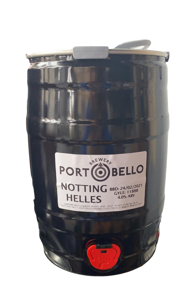 Portobello Brewing Notting Helles Mini Keg