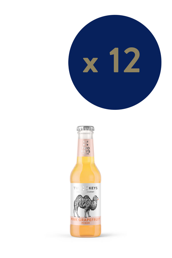 Two Keys Mixers - Pink Grapefruit 200ml x12 - The Distillery London