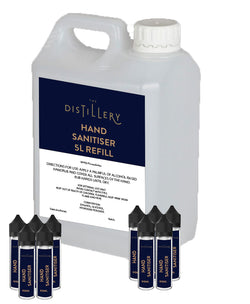 Hand Sanitiser Refill and Personal Bottles Pack - The Distillery London
