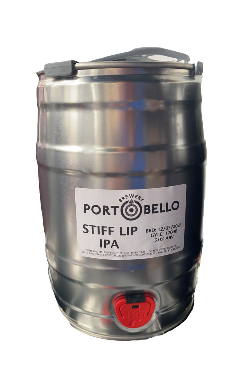 Portobello Brewing Stiff Lip IPA Mini Keg