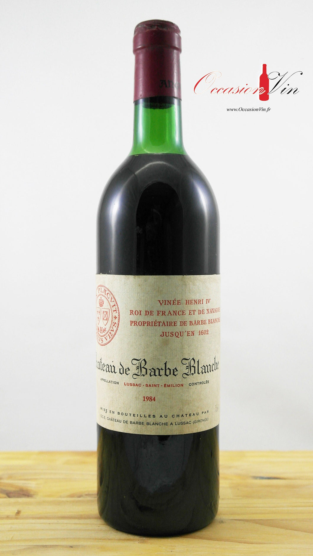 Château Barbe Blanche Vin 1984