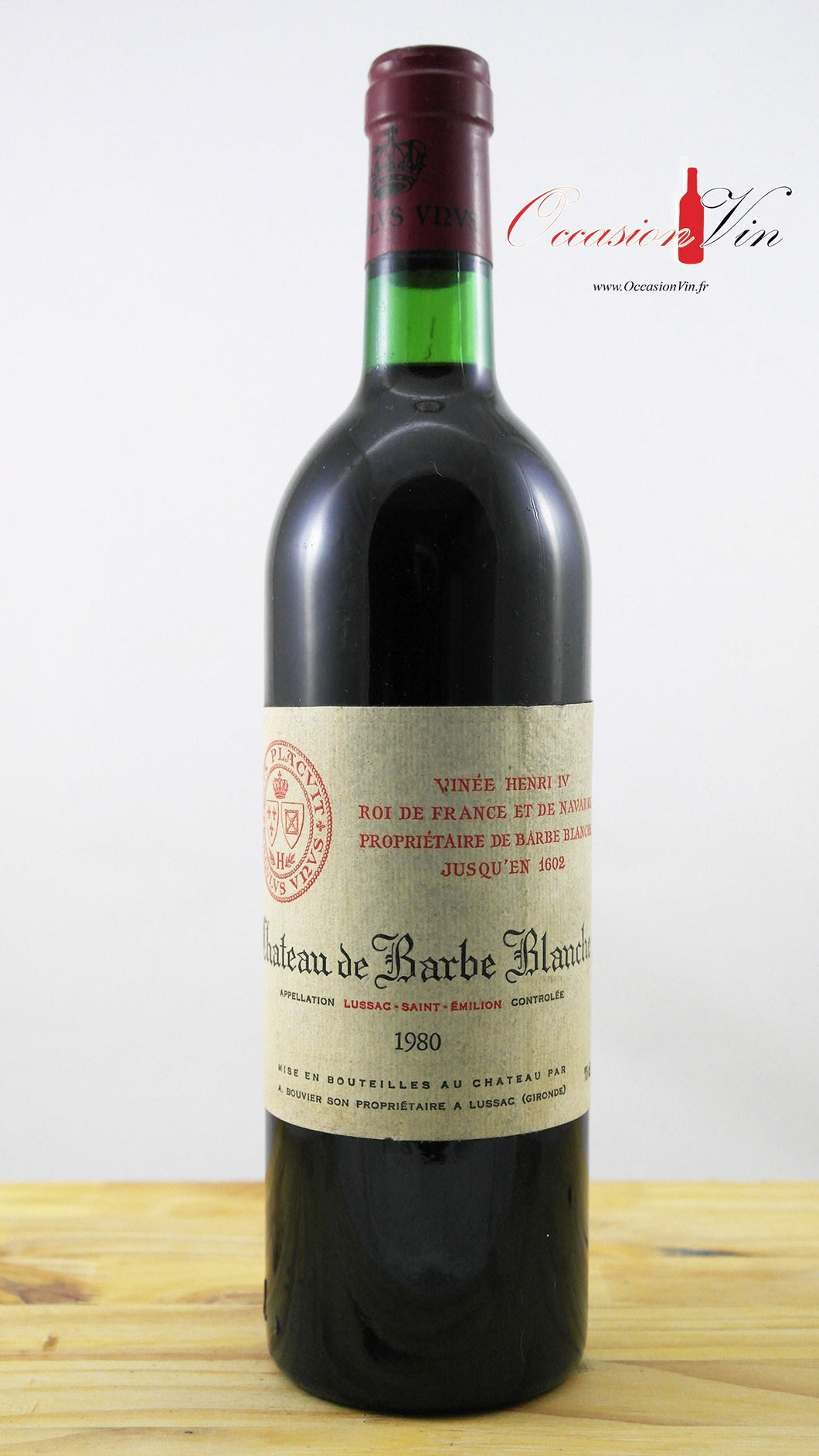 Château Barbe Blanche Vin 1980