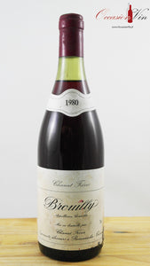 Brouilly Chanut Frères Vin 1980