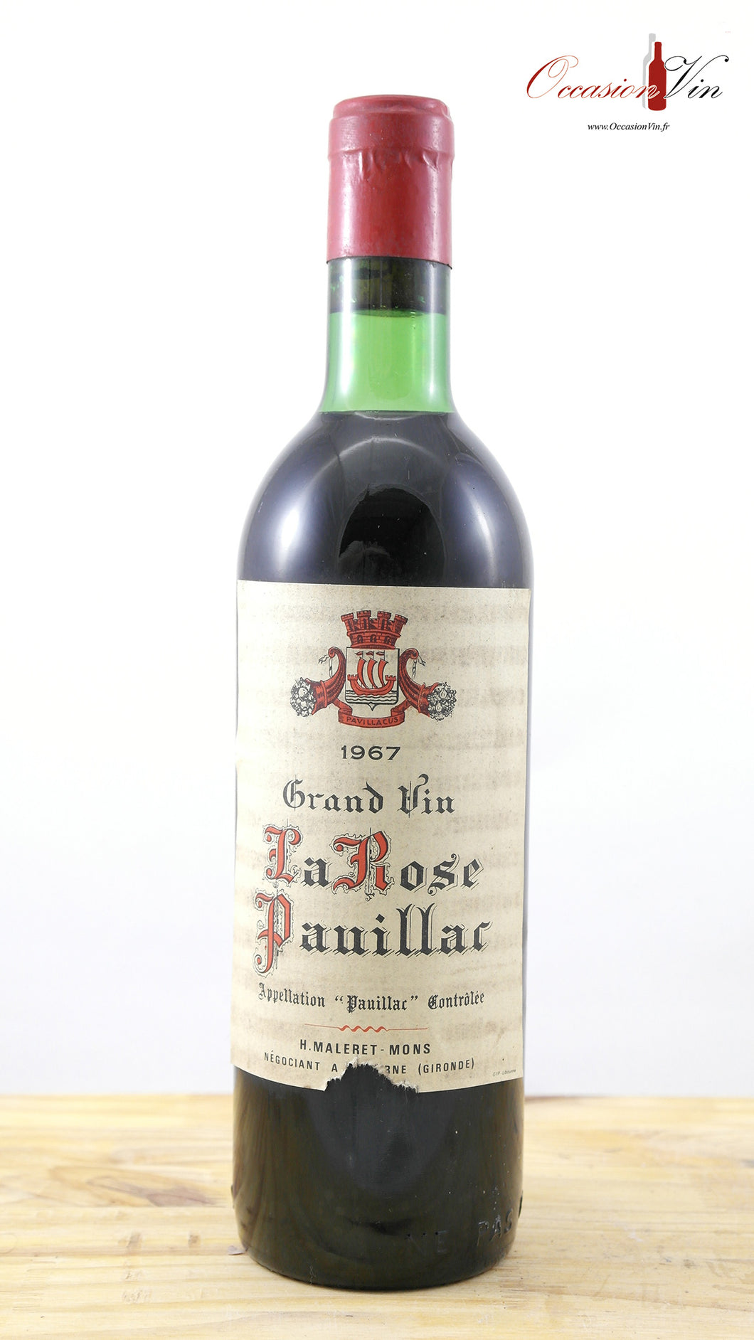Grand Vin La Rose Pauillac EA Vin 1967