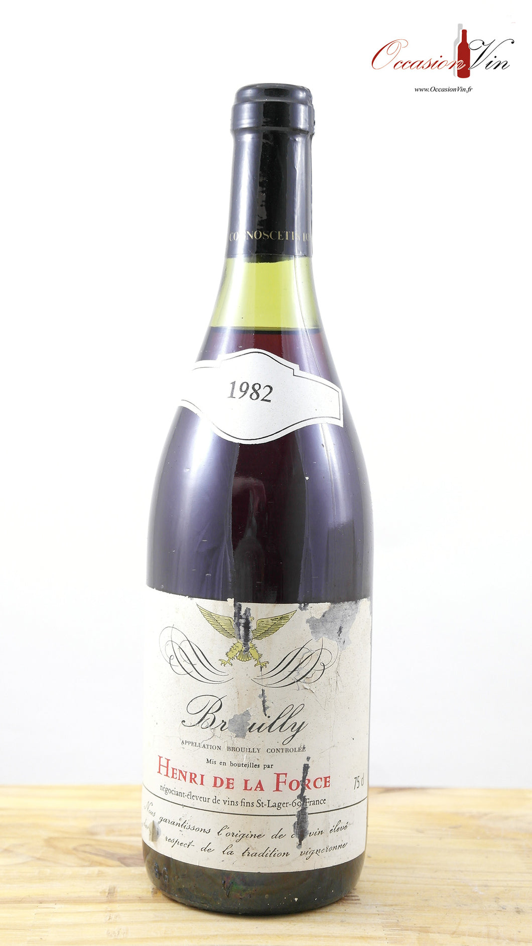 Brouilly Henry de la Force NB Vin 1982