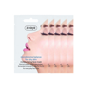 5 x Ziaja Microbiome Face Mask For Dry Skin/Sachet  7Ml