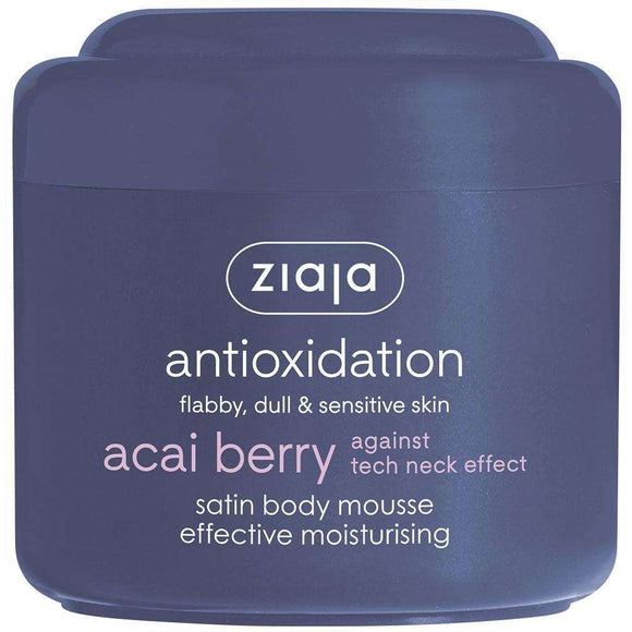 Ziaja Acai Berry Satin Body Mousse Moisturising 200Ml