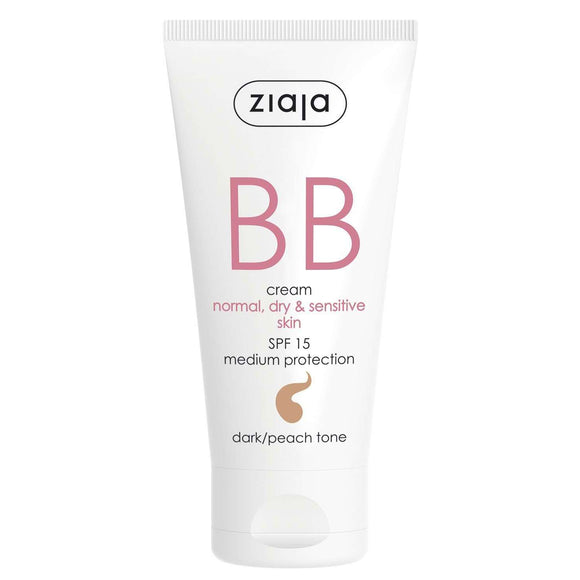 Ziaja Bb Cream Normal Dry & Sensitive Skin - Dark/Peach Tone 50 Ml