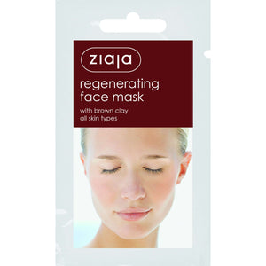 Ziaja Regenerating Face Mask With Brown Clay/Sachet/Display 7Ml